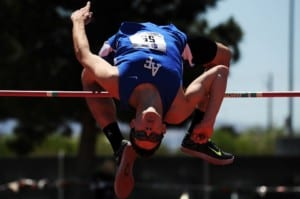 man doing a high jump